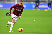 Jarrod Bowen of West Ham United warms up during West Ham United vs Aston Villa, Premier League Football at The London Stadium on 30th November 2020