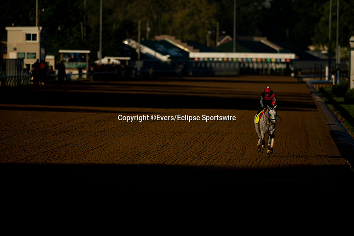 April 26, 2021: Soup and Sandwich gallops in preparation for the Kentucky Derby at Churchill Downs in Louisville, Kentucky on April 26, 2021. EversEclipse Sportswire/CSM