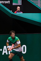Rotterdam, The Netherlands,  1 march 2021, ABNAMRO World Tennis Tournament, Ahoy, First round match: The last match Raymond Knaap (NED) will coach Robin Haase (NED).<br />