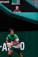 Rotterdam, The Netherlands,  1 march 2021, ABNAMRO World Tennis Tournament, Ahoy, First round match: The last match Raymond Knaap (NED) will coach Robin Haase (NED).<br /> Photo: www.tennisimages.com/henkkoster