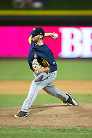 Buies Creek Astros relief pitcher Nick Hernandez (15) in action against the Winston-Salem Dash at BB&T Ballpark on June 23, 2017 in Winston-Salem, North Carolina.  The Astros defeated the Dash 3-0.  (Brian Westerholt/Four Seam Images)