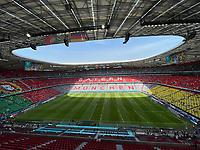 Innenraum der Allianz Arena bei der EURO2020 in München<br /> - Muenchen 19.06.2021: Deutschland vs. Portugal, Allianz Arena Muenchen, Euro2020, emonline, emspor, <br /> <br /> Foto: Marc Schueler/Sportpics.de<br /> Nur für journalistische Zwecke. Only for editorial use. (DFL/DFB REGULATIONS PROHIBIT ANY USE OF PHOTOGRAPHS as IMAGE SEQUENCES and/or QUASI-VIDEO)