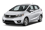 2017 Honda Fit EX 5 Door Hatchback Angular Front stock photos of front three quarter view