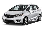 2017 Honda Fit EX 5 Door Hatchback Angular Front stock photos of front three quarter view