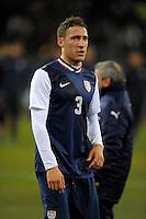 Fabian Johnson  (USA), during the friendly match Italy against USA at the Stadium Luigi Ferraris at Genoa Italy on february the 29th, 2012.