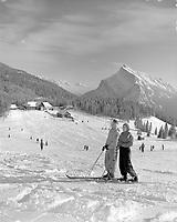 Skiing at Mt. Norquay,Banff National Park,Alberta