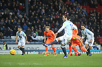 Blackburn Rovers Danny Graham scores his sides first goal   from a penalty<br /> <br /> Photographer Mick Walker/CameraSport<br /> <br /> The EFL Sky Bet Championship - Blackburn Rovers v Ipswich Town - Saturday 19 January 2019 - Ewood Park - Blackburn<br /> <br /> World Copyright © 2019 CameraSport. All rights reserved. 43 Linden Ave. Countesthorpe. Leicester. England. LE8 5PG - Tel: +44 (0) 116 277 4147 - admin@camerasport.com - www.camerasport.com