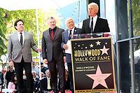 LOS ANGELES - FEB 24:  Bobby Poynton, Rob Gulack, Tony Butala, Donovan Tea at the The Lettermen Star Ceremony on the Hollywood Walk of Fame on February 24, 2019 in Los Angeles, CA