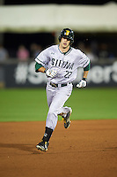 Siena Saints center fielder Dan Swain (22) runs the bases after hitting a home run during a game against the UCF Knights on February 17, 2017 at UCF Baseball Complex in Orlando, Florida.  UCF defeated Siena 17-6.  (Mike Janes/Four Seam Images)
