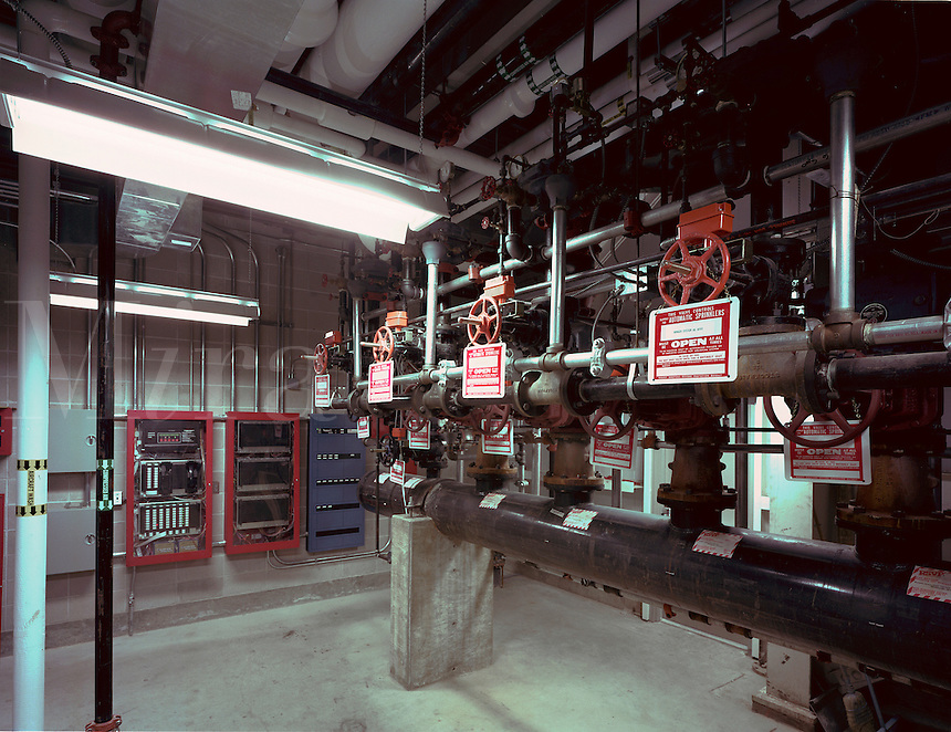 The interior of a fire control room.