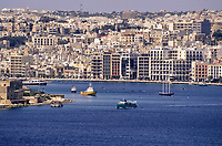 Sliema Creek, Valletta, Malta. View from Fort Saint Elmo.