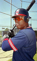 Cleveland Indians Glenallen Hill (1) during Spring Training 1993 at Chain of Lakes Park in Winter Haven, Florida.  (MJA/Four Seam Images)