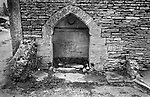 Upper Slaughter, Gloucestershire 1975. England. Village Well.