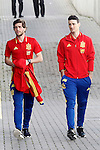 Sergi Roberto (l) and Aritz Aduriz during Spanish national football team staff. March 21,2016. (ALTERPHOTOS/Acero)