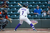 Ronald Bueno (7) of the Winston-Salem Dash at bat against the Buies Creek Astros at BB&T Ballpark on April 13, 2017 in Winston-Salem, North Carolina.  The Dash defeated the Astros 7-1.  (Brian Westerholt/Four Seam Images)