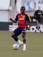 Real Salt Lake Forward Alex Nimo in the 2009 Xango Cup Friendly between Real Salt Lake and Santos Laguna. Santos win 4-1 over Real Salt Lake on July 9, 2008 at Rice-Eccles Stadium in Salt Lake City, Utah.