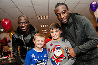 Tuesday  15 December 2015<br /> Pictured: Modou Barrow and Marvin Emnes<br /> Re: Kids SCFC Christmas Party at the Liberty Stadium, Swansea