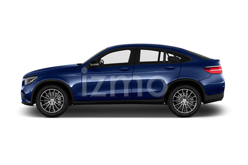 Car Driver side profile view of a 2017 Mercedes Benz GLC-Coupe 300-4MATIC 5 Door SUV Side View
