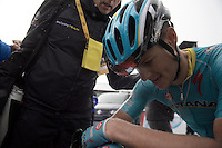 Jakob Fuglsang (DEN/Astana) finishes 2nd<br /> <br /> stage 12: Lannemezan - Plateau de Beille (195km)<br /> 2015 Tour de France