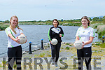 Caoimhe Evans, Tonya Joy and Meadhbh Rochford taking part in the Mid Kerry Ladies Gaels #1 Million Solos challenge in aid of ISPCC Childline charity