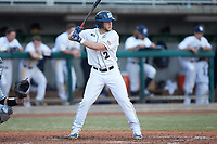 Conlin Hughes (2) of the Penn State Nittany Lions at bat against the Xavier Musketeers at Coleman Field at the USA Baseball National Training Center on February 25, 2017 in Cary, North Carolina. The Musketeers defeated the Nittany Lions 7-5 in game two of a double header. (Brian Westerholt/Four Seam Images)