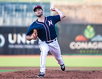 Daniel Tillo (33) of the Naturals up for a rehad assignment for the Royals, pitches against the Travelers at Arvest Ballpark, Springdale, Arkansas, Wednesday, July 14, 2021 / Special to NWA Democrat-Gazette/ David Beach