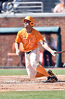 Tennessee Volunteers right fielder Dom Thornton (26) swings at a pitch during a game against the South Carolina Gamecocks at Lindsey Nelson Stadium on March 18, 2017 in Knoxville, Tennessee. The Gamecocks defeated Volunteers 6-5. (Tony Farlow/Four Seam Images)