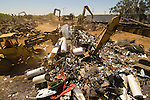 Scrap metal ready for shredding and export