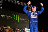 Monster Energy NASCAR Cup Series<br /> Monster Energy NASCAR All-Star Race<br /> Charlotte Motor Speedway, Concord, NC USA<br /> Saturday 20 May 2017<br /> Kyle Busch, Joe Gibbs Racing, M&M's Caramel Toyota Camry, Celebrates in Victory Lane.<br /> World Copyright: John K Harrelson<br /> LAT Images<br /> ref: Digital Image 17CLT1jh_04897