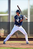 Milwaukee Brewers first baseman Chad McClanahan (9) during an Instructional League game against the Cincinnati Reds on October 14, 2016 at the Maryvale Baseball Park Training Complex in Maryvale, Arizona.  (Mike Janes/Four Seam Images)