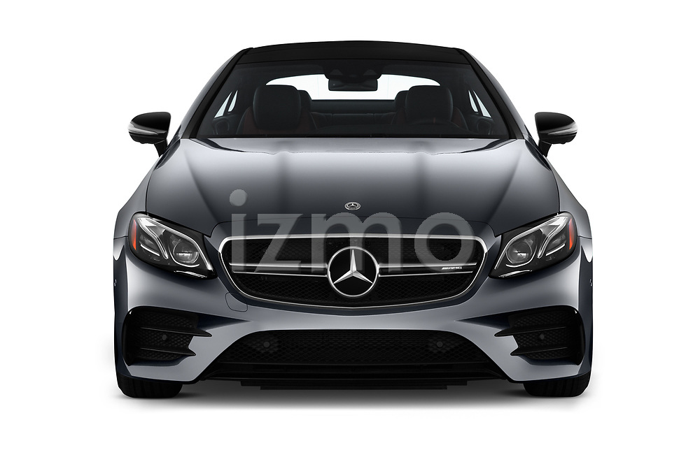 Car photography straight front view of a 2019 Mercedes Benz E-Class AMG-E53 2 Door Coupe Front View