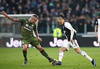 Calcio, Serie A: Juventus - Cagliari, Turin, Allianz Stadium, January 6, 2020.<br /> Juventus' Cristiano Ronaldo (r) in action with Cagliari's captain Radja Nainggolan (l) during the Italian Serie A football match between Juventus and Cagliari at Torino's Allianz stadium, on January 6, 2020.<br /> UPDATE IMAGES PRESS/Isabella Bonotto