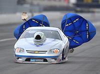 Feb 11, 2017; Pomona, CA, USA; NHRA top sportsman driver Don Meziere during the Winternationals at Auto Club Raceway at Pomona. Mandatory Credit: Mark J. Rebilas-USA TODAY Sports