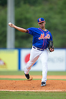 Kingsport Mets starting pitcher Darwin Ramos (38) in action against the Greeneville Astros at Hunter Wright Stadium on July 7, 2015 in Kingsport, Tennessee.  The Mets defeated the Astros 6-4. (Brian Westerholt/Four Seam Images)