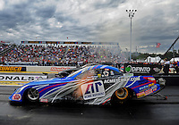 Sept. 30, 2011; Mohnton, PA, USA: NHRA funny car driver Terry Haddock during qualifying for the Auto Plus Nationals at Maple Grove Raceway. Mandatory Credit: Mark J. Rebilas-