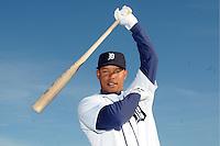 Feb 21, 2009; Lakeland, FL, USA; The Detroit Tigers infielder Ramon Santiago (39) during photoday at Tigertown. Mandatory Credit: Tomasso De Rosa/ Four Seam Images