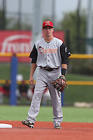 Christian Lichtenthaler of the Salem-Keizer Volcanoes in the field during a game against the Hillsboro Hops at Ron Tonkin Field on July 26, 2015 in Hillsboro, Oregon. Hillsboro defeated Salem-Keizer, 4-3. (Larry Goren/Four Seam Images)