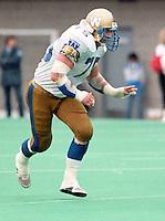 Stan Mikawos Winnipeg Blue Bombers 1987. Copyright photograph Scott Grant