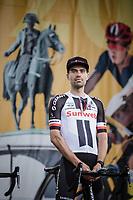 Tom Dumoulin (NED/Team Sunweb) at the team presentation stage.<br /> <br /> Le Grand Départ 2018<br /> 105th Tour de France 2018<br /> ©Kramon