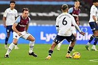 Mark Noble of West Ham United and Douglas Luiz of Aston Villa during West Ham United vs Aston Villa, Premier League Football at The London Stadium on 30th November 2020