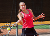 08-08-13, Netherlands, Rotterdam,  TV Victoria, Tennis, NJK 2013, National Junior Tennis Championships 2013, Isolde de Jong    <br /> <br /> <br /> Photo: Henk Koster