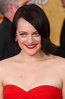 LOS ANGELES, CA - JANUARY 18: Elisabeth Moss at the 20th Annual Screen Actors Guild Awards held at The Shrine Auditorium on January 18, 2014 in Los Angeles, California. (Photo by Xavier Collin/Celebrity Monitor)