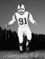 Joe Porrier Ottawa Rough Riders 1959. Copyright photograph Ted Grant