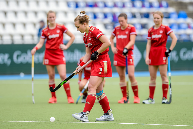 Mannheim, Germany, May 08: During the 1. Bundesliga women fieldhockey semi-final match between Mannheimer HC and Rot-Weiss Koeln on May 8, 2021 at Am Neckarkanal in Mannheim, Germany. (Copyright Dirk Markgraf / www.265-images.com) ***