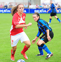 Club Brugge - Standard Femina :  Lieke Martens en Christine Saelens.fotografe Joke Vuylsteke - vrouwenteam.be