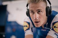 nose-propped Julien Vermote (BEL/Quick-Step Floors) warming up<br /> <br /> 104th Tour de France 2017<br /> Stage 1 (ITT) - Düsseldorf › Düsseldorf (14km)