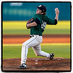 Lukas Touma (29) of the University of South Carolina Upstate Spartans was the Green team starter in the Green and Black Fall World Series Game 4 on Wednesday, November 4, 2020, at Cleveland S. Harley Park in Spartanburg, South Carolina. Green won, 8-0. (Tom Priddy/Four Seam Images)