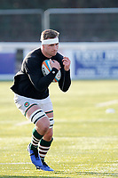 Ryan Smid of Ealing Trailfinders warms up during the Championship Cup Quarter Final match between Ealing Trailfinders and Nottingham Rugby at Castle Bar , West Ealing , England  on 2 February 2019. Photo by Carlton Myrie / PRiME Media Images.