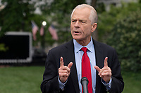 Peter Navarro speaks to the media at the White House