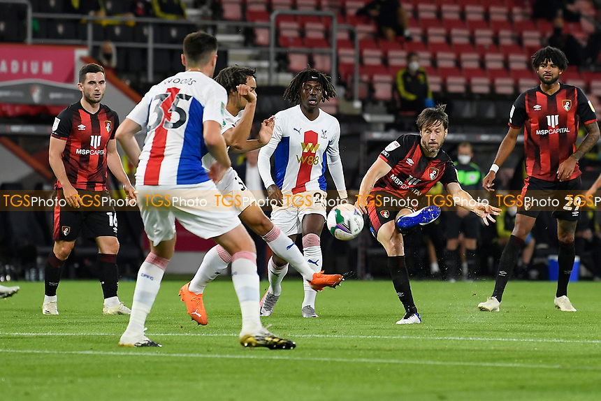 Harry Arter of Bournemouth has a shot on goal during AFC Bournemouth vs Crystal Palace, Carabao Cup Football at the Vitality Stadium on 15th September 2020
